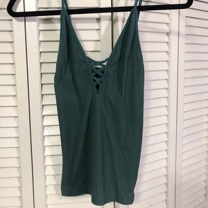 Free People Green Stretchy Tank